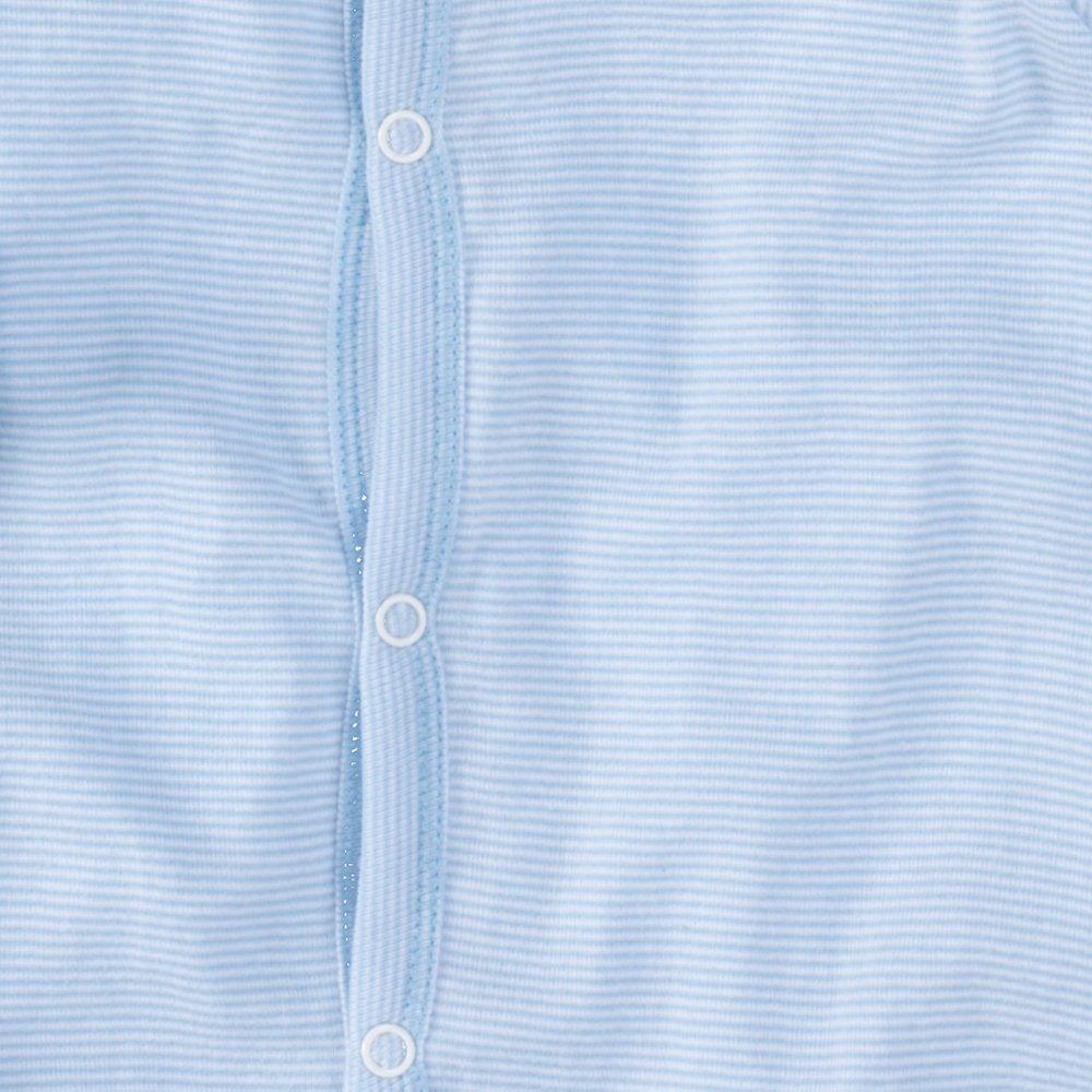 ni/ños peque/ños una Pieza de Manga Larga wellyou Pijamas Finas 100/% algod/ón Tallas 56-134 Rayas Azul Celeste Rayas Pijamas para ni/ños y ni/ñas