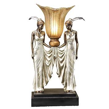 Amazon.Com: Design Toscano Art Deco Peacock Maidens Illuminated
