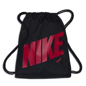 adef741dac4 ... Nike Young Athlete Drawstring Gymsack Backpack Sport Bookbag Black Pink  Signature Logo, One Size brand ...