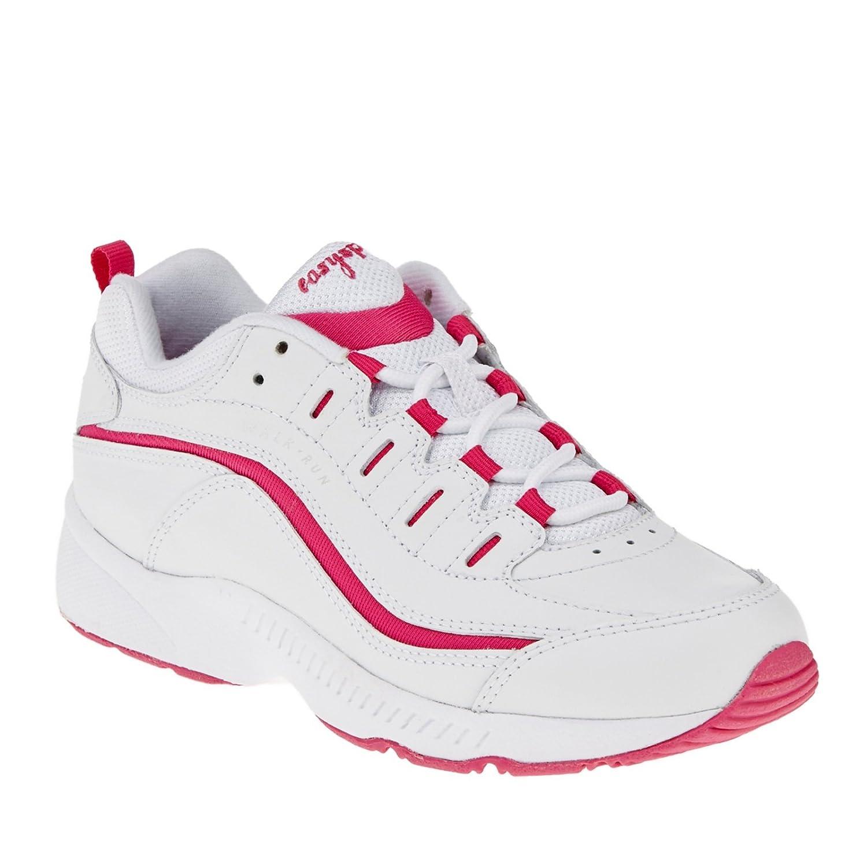 Easy Spirit Women's Romy Sneaker B00EYYYPXQ 6.5 C/D US|White/Dark Pink
