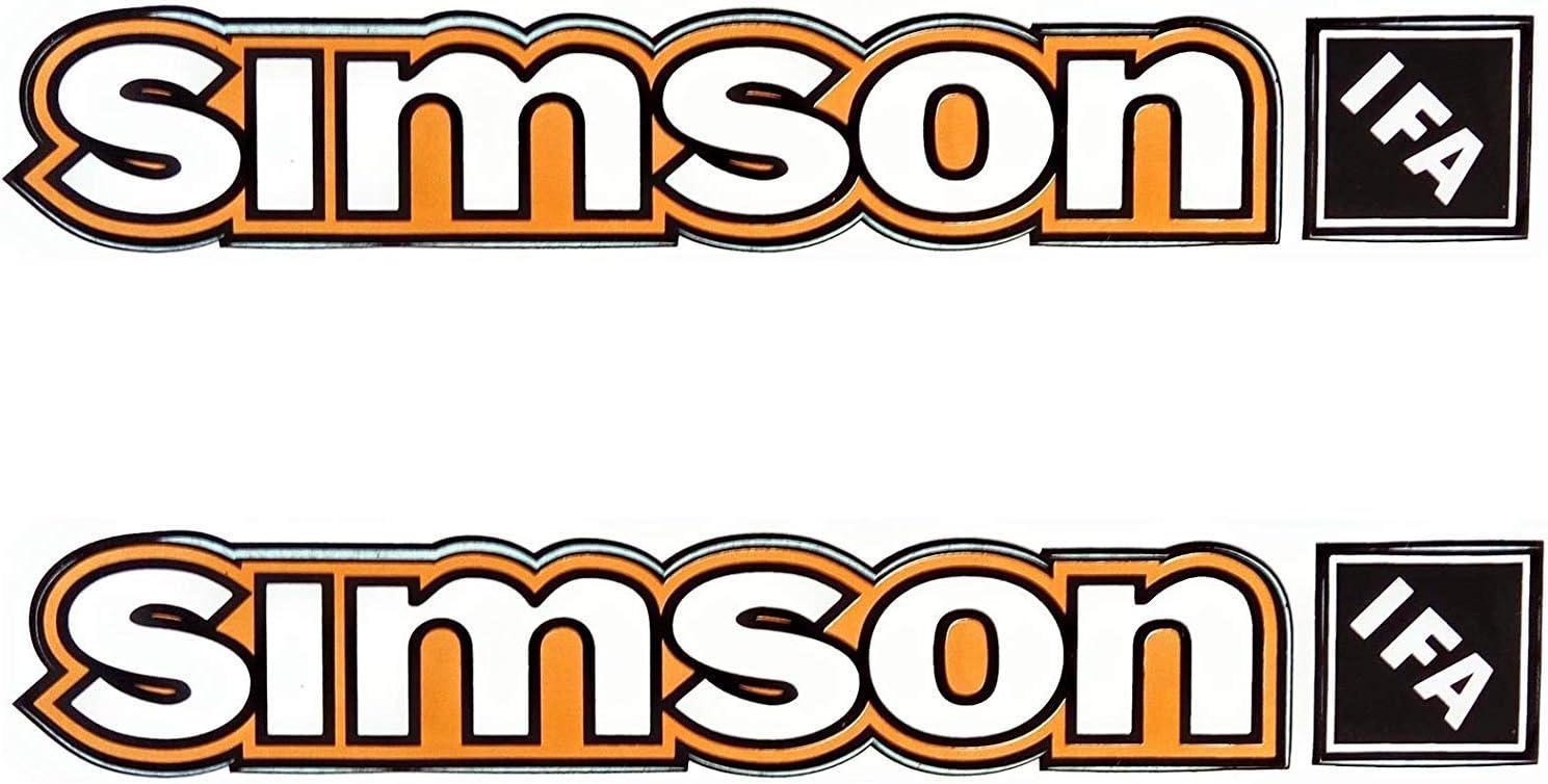 Alte Form Set Aufkleber Sticker Simson S50B Gelb Tank und Seitendeckel