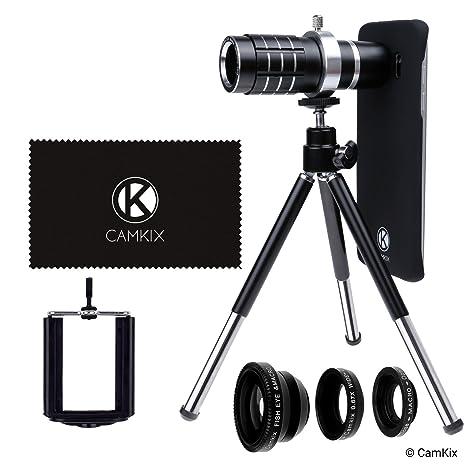 designer fashion 63b53 0fd63 CamKix Lens Kit Compatible with Samsung Galaxy S7 & S7 Edge - 12x Telephoto  Lens, Fisheye Lens, Macro Lens, Wide Angle Lens, Tripod, Phone Holder, ...