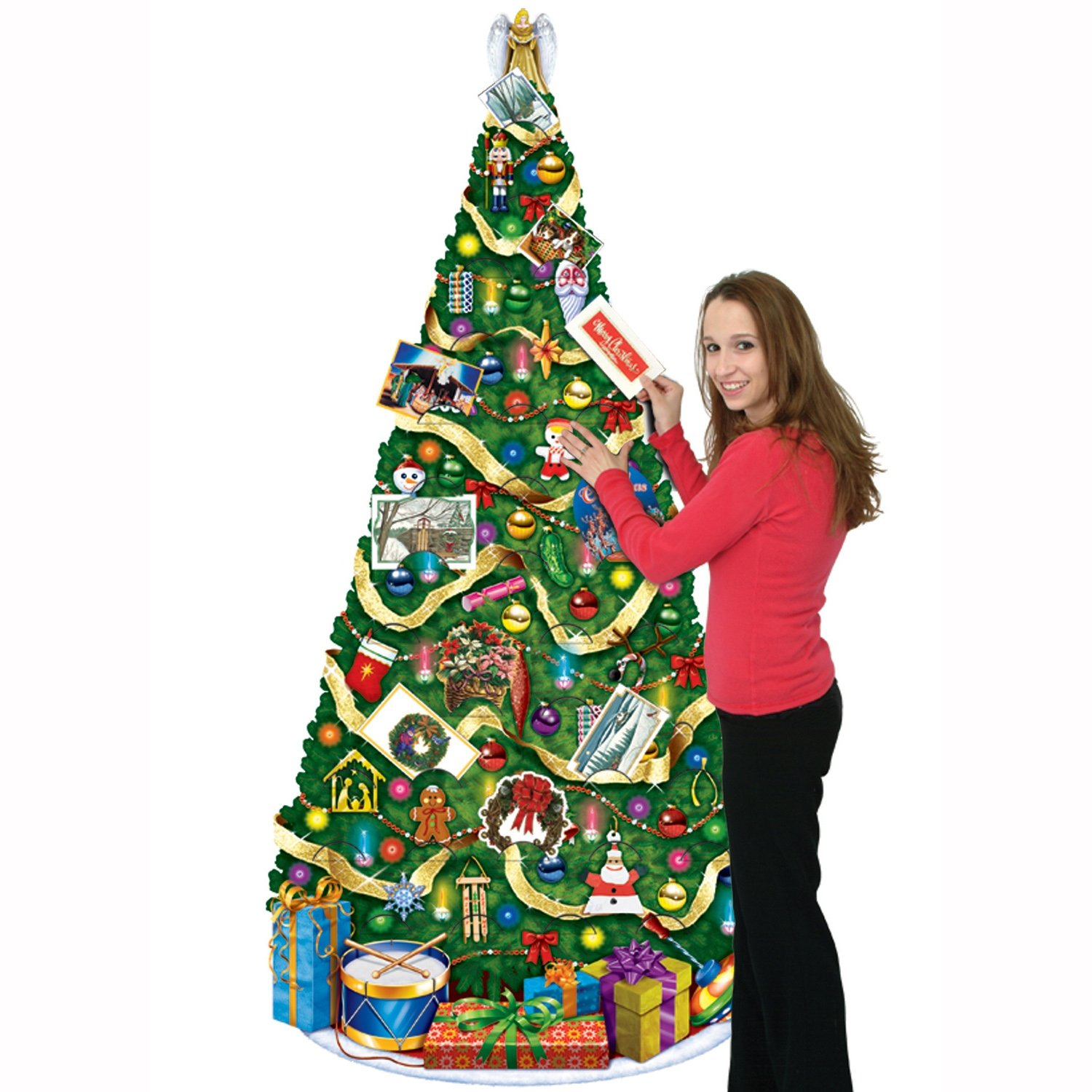 amazoncom beistle 1 pack jointed christmas tree 6 feet party streamers kitchen dining