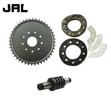 jrl 44 dientes piñón y piñón KIT de montaje y eje de embrague para 66 cc 80 cc motorizado bicicleta: Amazon.es: Coche y moto