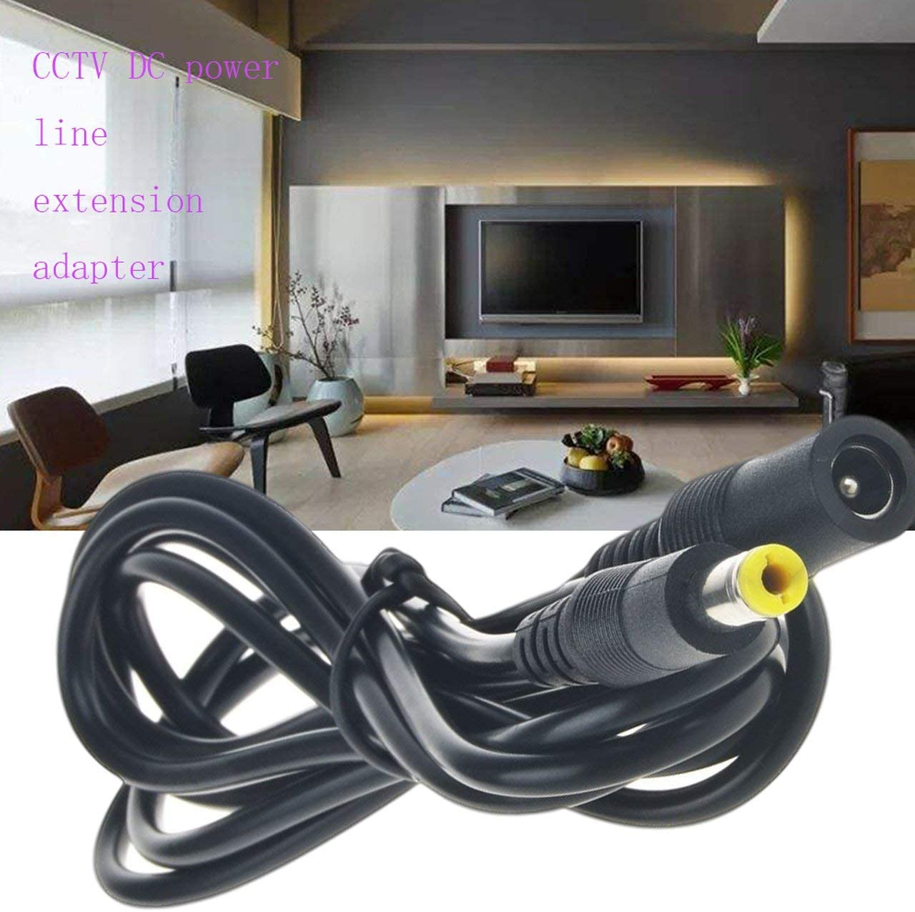 3m FRjasnyfall Noir 10ft 12v CCTV DC C/âble dalimentation Rallonge Adaptateur M/âle//Femelle 5.5mm x 2.1mm