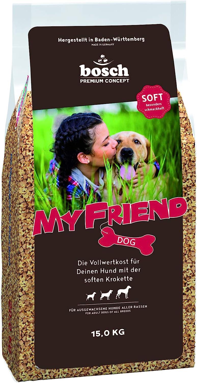 Bosch Pet Food My Friend Soft | Comida Semi-Húmeda para Perros Adultos De Todas Las Razas | con Croquetas Semi-Húmedas 15500 g