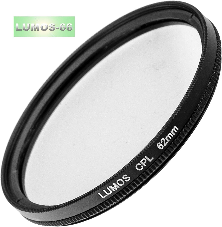 Pare-soleil dobjectif filtre polarisant et support filtre de protection UV Convient /également pour lobjectif dappareil photo avec filetage de filtre de 62 mm LUMOS Kit daccessoires 62 mm