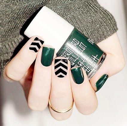jovono Retro Full postizas corto falso uñas para las mujeres y las niñas (de profundidad