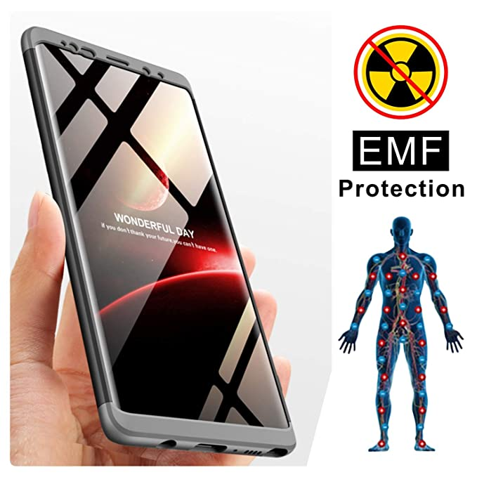 2a18a3b1310 TAGCMC Samsung Galaxy Note9 Case, Ultra Slim Anti-Radiation/EMF Protection  and Negative Ion Energy Lightweight Hard Case Cover Bumper Compatible with  ...