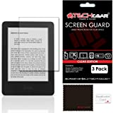 "[Pack of 3] TECHGEAR® Amazon Kindle 6"" with Touchscreen Display eReader CLEAR LCD Screen Protectors with Cleaning Cloth & Application Card - Fits All-New Kindle with Touch (2014-2016)"