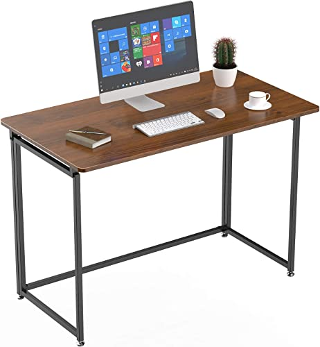 Eureka Ergonomic 43 inch Folding Computer Desk Home Office PC Table Foldable Writing School Desk No Assembly Required