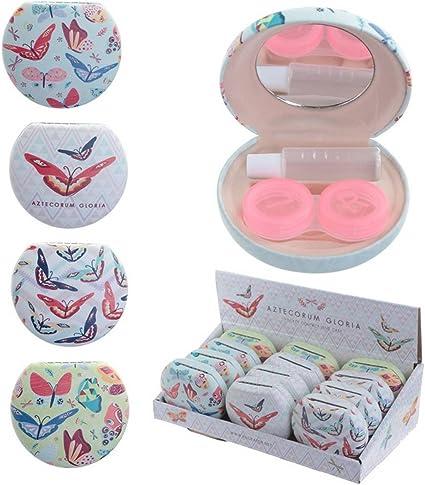 Original Estuche para lentillas - Diseños Mariposas: Amazon.es: Coche y moto