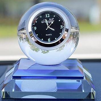 Coche Perfume Asiento creativo relojes cristal Perfume adornos adornos de coche 1 pieza: Amazon.es: Coche y moto
