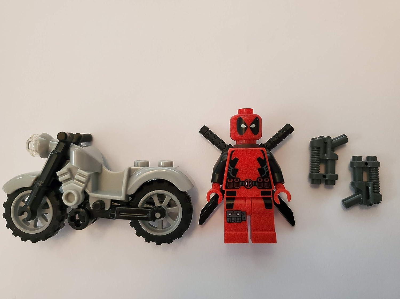 Deadpool Motorcycle Marvel Toys For Collectors Building Blocks Minifigures Sale
