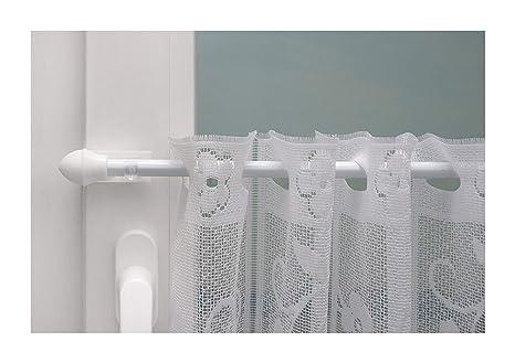 Beyond Drape Klemmstange Gardinenstange ausziehbar Klemmträger bis 20mm ohne Bohren zur Aufhängung von Scheibengardinen für O