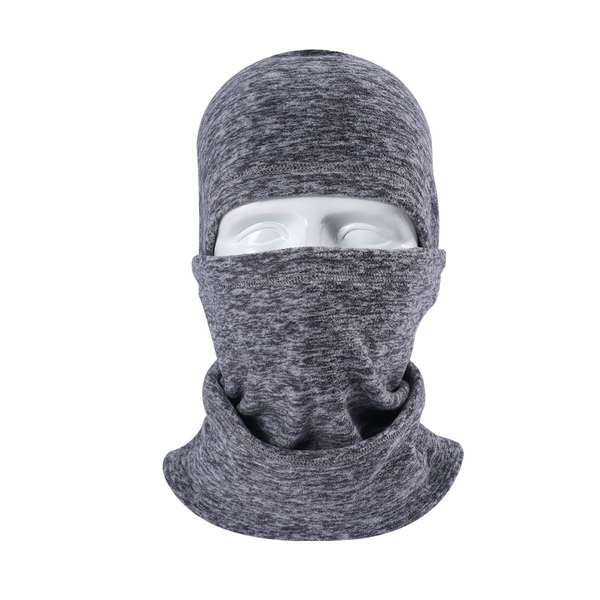 Runtlly Winter Heavyweight Mask Warm Windproof Balaclava Motorcycle Tactical Skiing Face Mask Gray