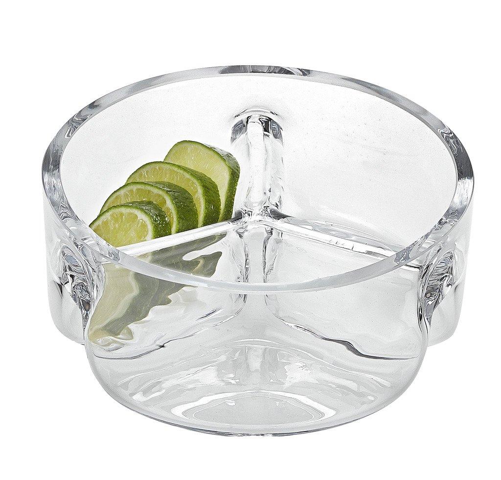 Badash 3 Section Dish, 6.25-Inch Badash Crystal SL626