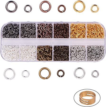 Iron Jump Rings Close but Unsoldered and Assistant Tool Brass Rings Golden