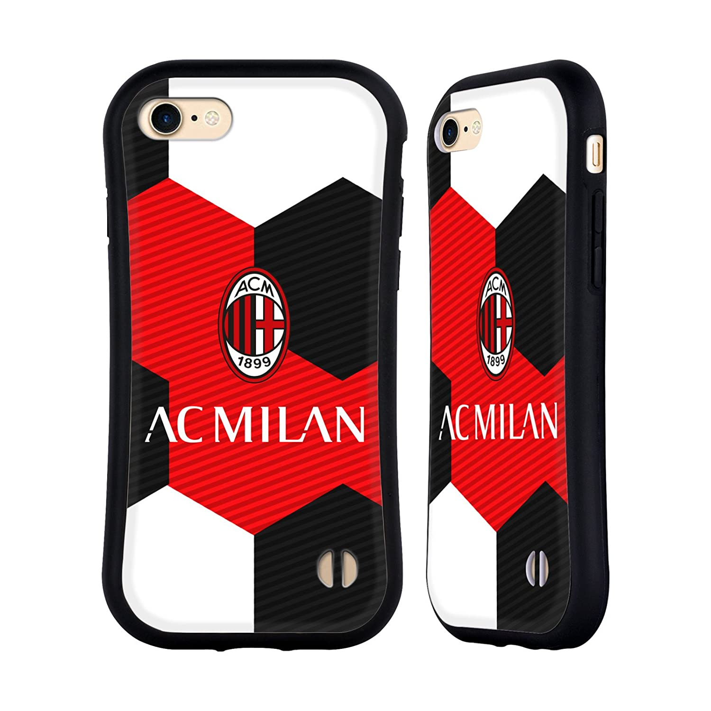 Official AC Milan Full Colour Black 2018/19 Crest Hybrid Case for iPhone 7 Plus / iPhone 8 Plus Head Case Designs HHYBK-IPH7P-ACMCRE-FBK