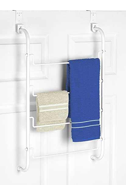 Whitmor Over The Door Towel Rack, White