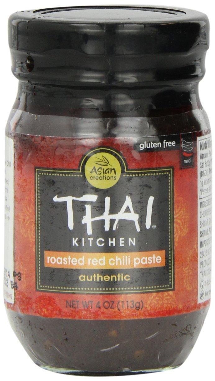 THAI KITCHEN | Gluten Free -Chili Paste-Roasted Red 4 Oz [1Pack]