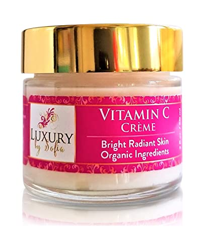 Luxury by Sofia Organic 15 Vitamin C Moisturizing Face Cream Bright, Fresh, Radiant Youthful Complexion Boost Collagen, Reduce Appearance of Wrinkles, Fine Lines, Discolorations Sun Spots
