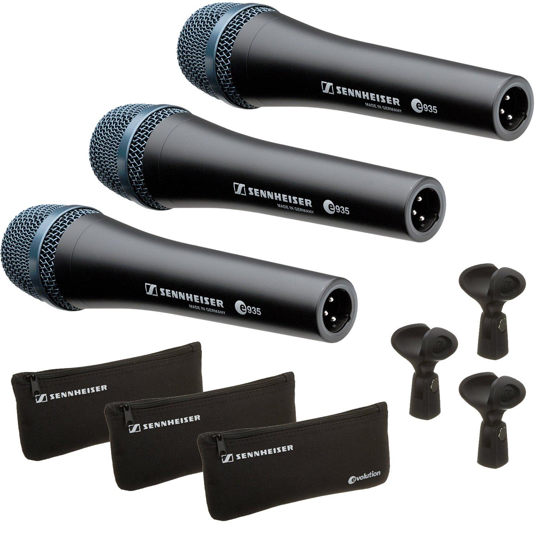 Sennheiser E935 - 3 Pack - Professional Cardioid Dynamic Handheld Microphones by Sennheiser