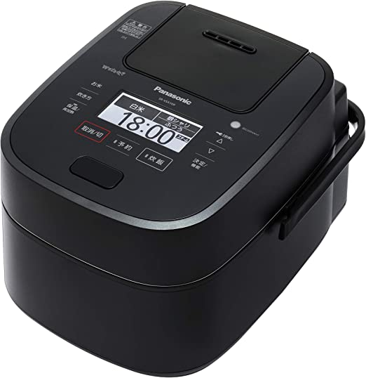 5-Cup with Induction Heating System Uncooked Black Panasonic Rice Cooker /& Multi-Cooker SR-HZ106