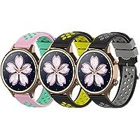 Hoopyeecase pasek od zegarka Kompatybilny z TicWatch E3, Miękki Dwukolorowy 20mm silikon sport pasek do zegarka dla…