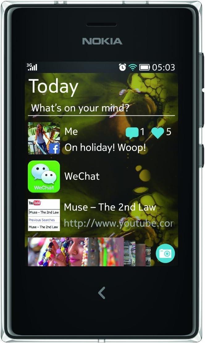 Nokia ASHA 503 Negro - Smartphone (7,62 cm (3