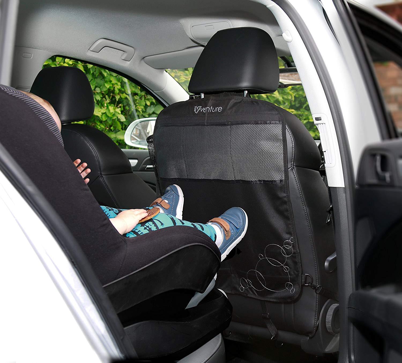 negro, paquete de 2 Venture Protectores para asiento de coche