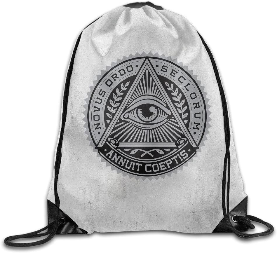 Nobee Illuminati.png Drawstring Backpack Sack Bag