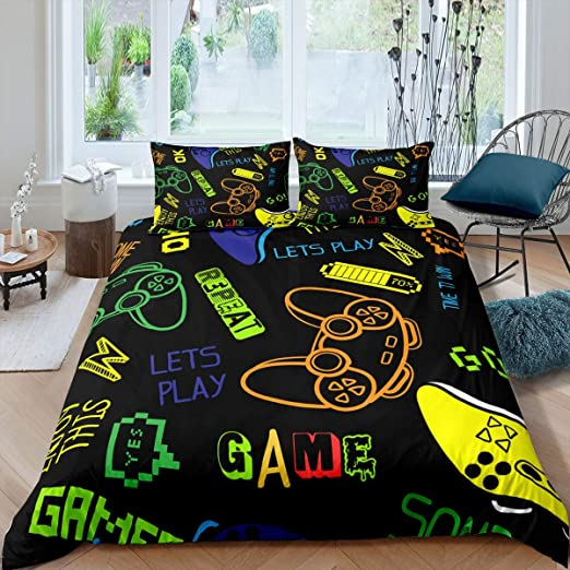 Amazon Com Feelyou Kids Games Comforter Cover Set For Boys Child Bedroom Gift Gamepad Bedding Set Modern Gamer Video Game Duvet Cover Set Gamer Console Novelty Action Buttons Decor 3 Pcs King Size Home,Small Parallel Modular Kitchen Designs