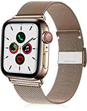 VATI Compatible with Apple Watch Band 38mm 40mm 42mm 44mm, Stainless Steel Mesh Sport Wristband Loop with Adjustable Magnetic Closure Band Compatible with iWatch Series 1/2/ 3/4