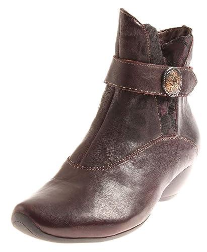Schuhe Damen Think87268 Leder Lederschuhe Stiefeletten OPZTXiuwk
