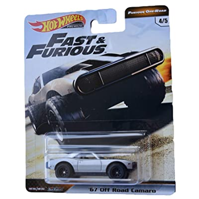 Hot Wheels Furious Off Road '67 Off Road Camaro 4/5, Silver: Toys & Games