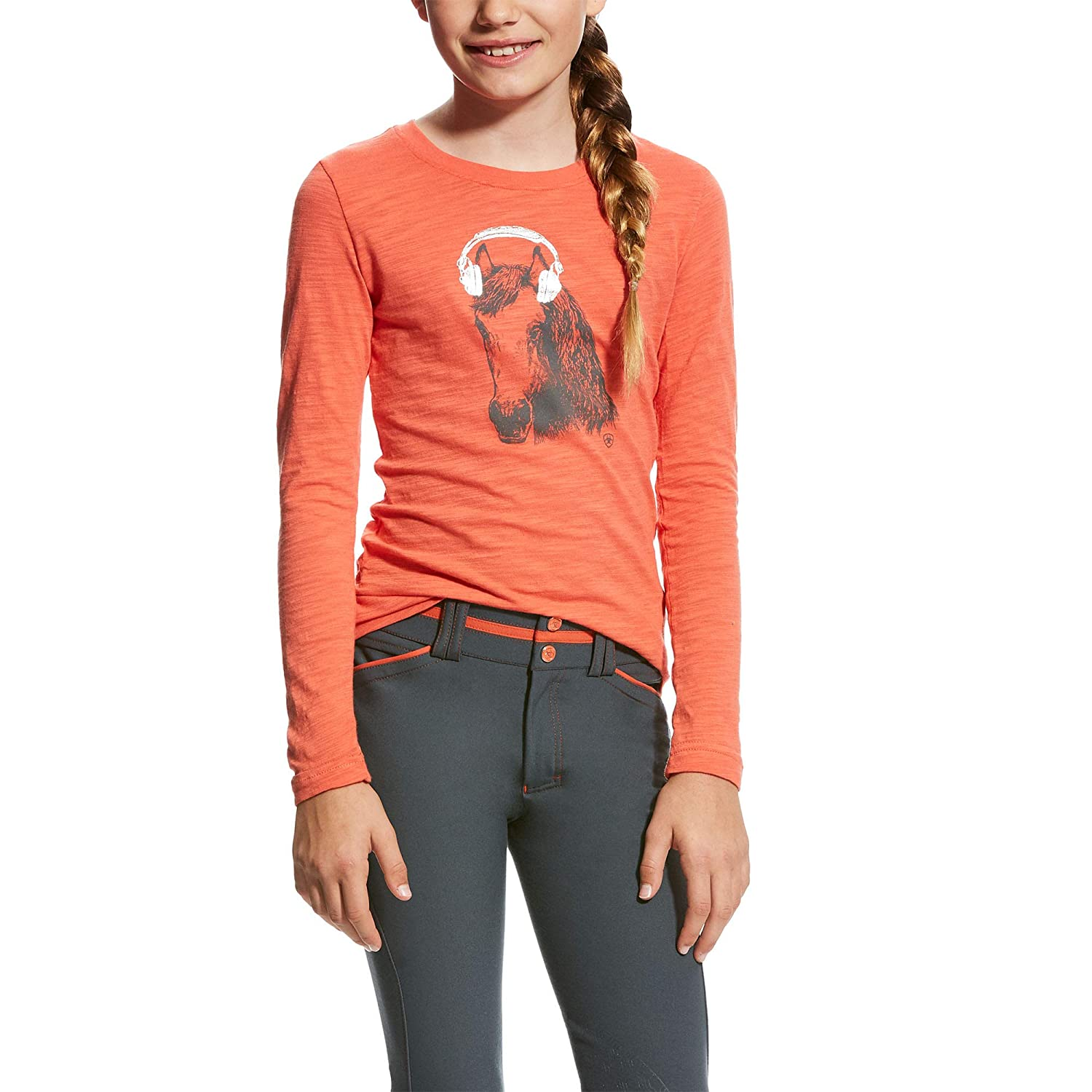 Ariat Girls Mixer Tee Calypso Coral