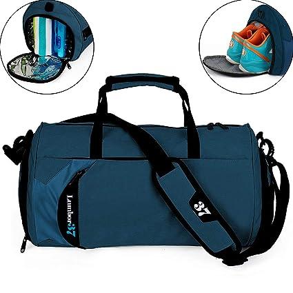 Fitness Sport Bolso Pequeño para Gimnasio con Compartimento para Zapatos y Bolsa  Impermeable para Viaje para 99fe698455b87