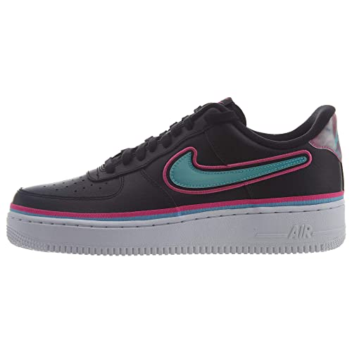 Nike Men Air Force 1 '07 Lv8 Sport (black blue gale laser fuchsia white)