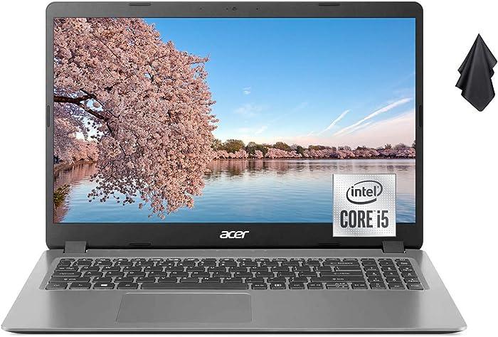 Acer Aspire 3 Slim Laptop Computer, 15.6 inches Full HD Display, Intel Quad-Core i5-1035G1 (Up to 3.6 GHz), 20GB DDR4 RAM, 1TB SSD, HDMI, Wi-Fi, Webcam, Numeric Keypad, Win10 + Oydisen Cloth