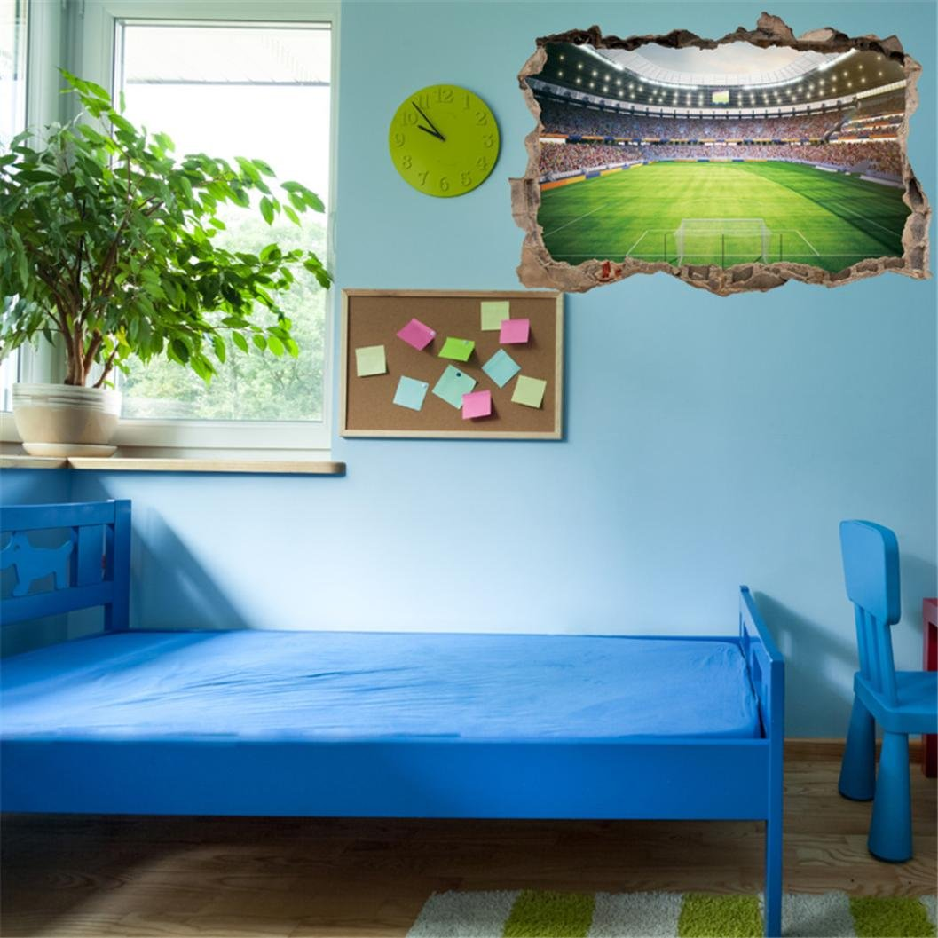 B New DIY Play Football Soccer House Removable Wall Decal Sticker Mural Home Decor for Livingroom Bedroom Pollyhb Wall Sticker