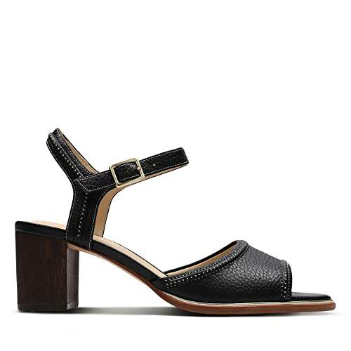 567c0ea1fbc5 Clarks Ellis Clara Leather Sandals in Black  Amazon.co.uk  Shoes   Bags