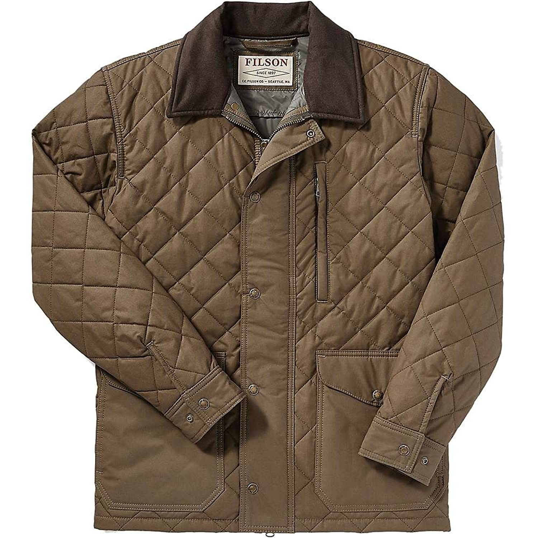 フィルソン メンズ ジャケットブルゾン Filson Men's Quilted Mile Marker Jacket [並行輸入品] B07DFHSLBD  XL