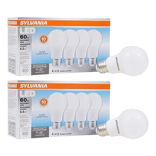 Amazon.com: Equivalente a 60 W, bombilla LED A19, paquete de ...