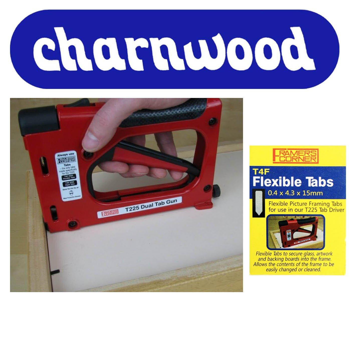 Charnwood T225 Tacker für flache Metallklammern + 2500 T4F flexible ...
