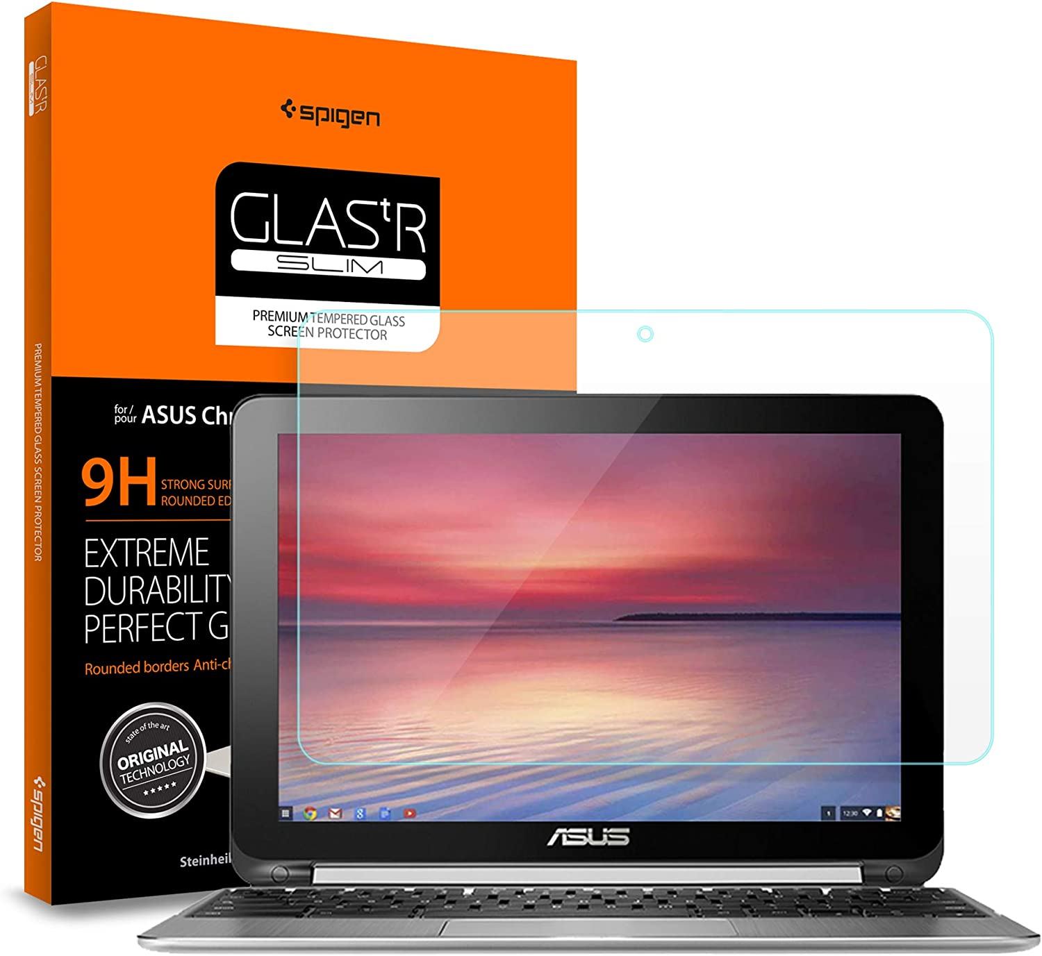 Amazon Com Spigen Tempered Glass Screen Protector Designed For Only Asus Chromebook Flip C100pa Db02 C101pa Db02 10 1 Inch 9h Hardness Computers Accessories