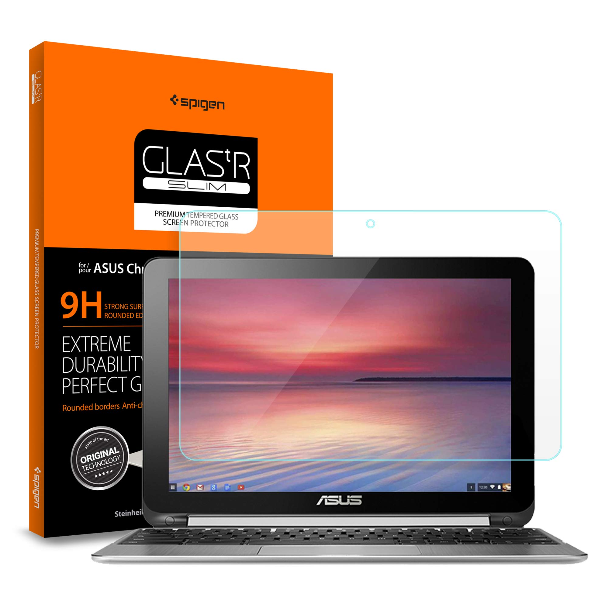 Spigen Screen Protector [ Tempered Glass ] for ASUS Chromebook Flip 10.1 inch C100PA-DB02 / C101PA-DB02