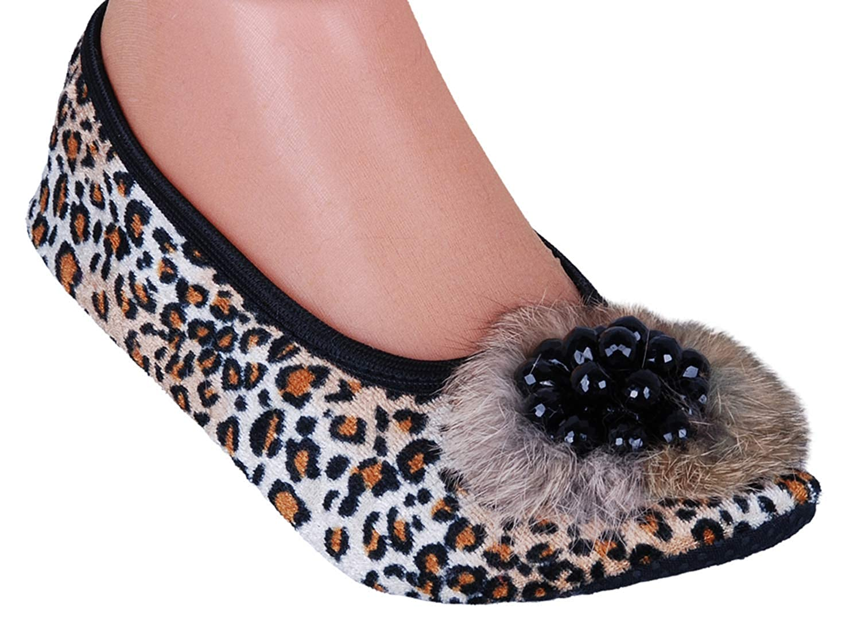 Flat Shoes PUFFY COTTON Elegant Velour Ballerina Slippers Sandals Indoor Outdoor Elasticized Nonslip