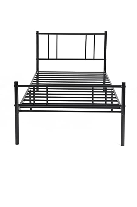 Prime Hj Wedoo Black Single Metal Bed Frame In Strong Structure 3Ft Bedstead Bedroom Suit For 90X190Cm Mattress Onthecornerstone Fun Painted Chair Ideas Images Onthecornerstoneorg