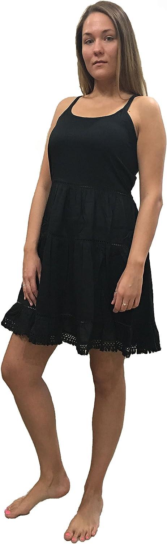 2 colors Elan Spaghetti Strap Babydoll Dress//Tunic